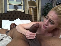 bitch bonnie gray experiences a big black penis