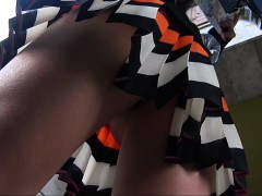 simple missing back and woman upskirt entrance