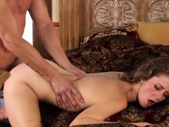 inked doggystyled beauty being spanked