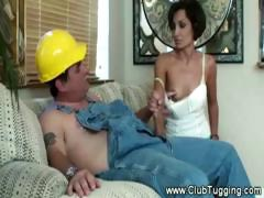 housewife-gives-contractor-handjob