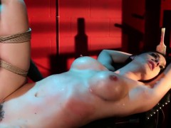 bounded submissive punished with flogging