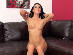 sabrina banks spreads her legs for a cock and then swallows a sexy load