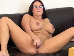 Big Breasted Chick With Glasses Mackenzee Pierce Masturbates On Camera