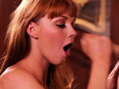 Facialized Ginger Babe Spoiling Cock