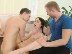 Bankrupt Lover Lets Frisky Friend To Penetrate His Lover For