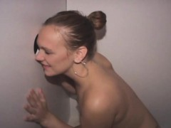 amateur wife sucking penis and facial at glory hole