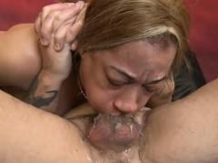 latina ezmerelda has her mouth and twat drilled