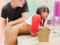 Hot Babysitter Jenna J Foxx Blows Hung Gardener