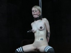 Collared Sub Gets Spread Pussy Whipped