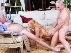 Raylin Ann Gang Banged By Three Filthy Old Men