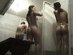 Group Naked Cuties Spied In Public Shower Online
