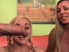 blonde-mom-and-daughter-sharing-giant-dick