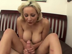 Big Tits Bounce On A Massive Shaft