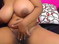 beautiful black with big tits masturbate and squirt Hot