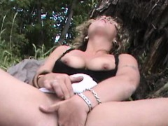 upskirt-sex-interview-outdoors-busty-public-nudity-fingering