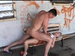 German Couple Fucks On Public Benc Jerry