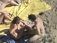two-couple-on-the-beach-mitzi-from-1fuckdatecom