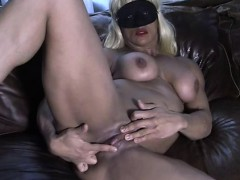 slave lauren rubs her wet cunt and big clit