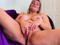 monster natural titted blonde mature masturbating Hot