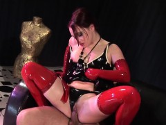 latex babe enjoys a good penis inside her vagina