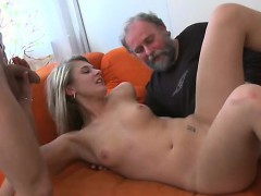 youthful girl gets wicked and enjoys sex with old fucker
