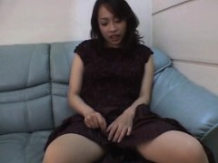 Reiko Kano Strips Naked And Finger Fucks Herself Hard On A C