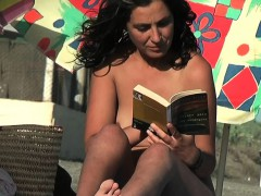 A Very Cute Girl In A Spanish Nudist Beach