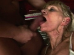 Blonde Granny Blowjob Big Dick Rough Shaved Cunt