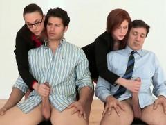 Secretaries Grope Big Hard Cocks Of Bosses