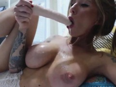Sexy Milf In Lingerie Sucking A Dildo