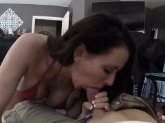 Brunette Milf Fetish And Tits Cumshot