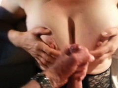 cumming-on-her-big-old-titties-homemade