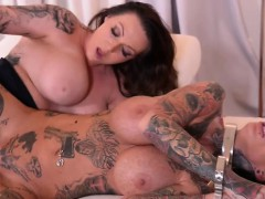 Brunette Submissive Fetish With Cumshot