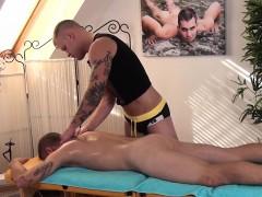 Inked Twunk Jerksoff Cum After Massage