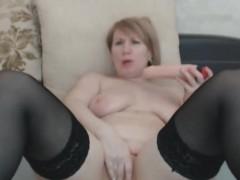 amazing chubby sexy blonde milf masturbates