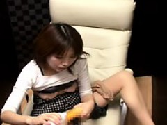 Insatiable Japanese Babe Fucks Her Tight Hairy Snatch With