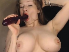 Large Busty Babe Gadgets On Camera Together With Her Vagina