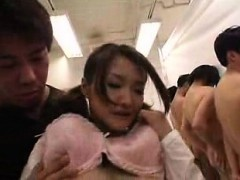 adorable japanese babe fucks a hard dick and gets her peach