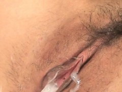Oriental Chick Enjoys Wild Filthy Cleft Toying During Bang