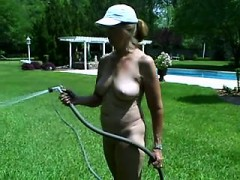 naked within the lawn