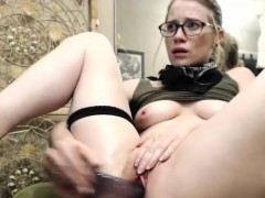 sexy sweet blonde camgirl plays with her pussy and squirts