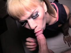 Ladyboy Belle Ass Fucked Bareback