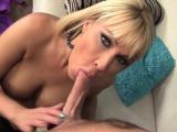 Blond Milf Mellanie Monroe rides her step sons big cock