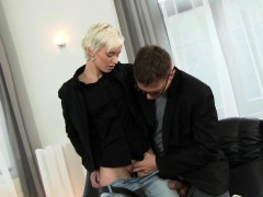 Jizzed Babe Pissed Over