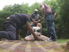 sex group sex gangbang blonde teens blowjob pt1