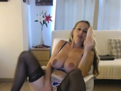 Busty Blonde Busting Up A Cock