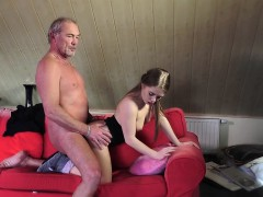 old young porn little bitch fucked bald grandpa in vagina