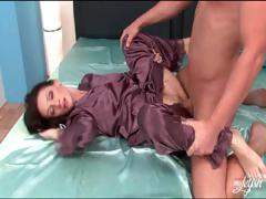 silk-pajama-wearing-slut-fucked