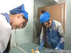 Asian Maintenance Girl Goes In Wrong Part1