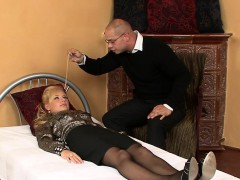 Surprised Honey In Undies Is Geeting Pissed On And Drilled